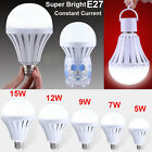 Super Bright 5/7/9/12/15W E27 LED Intelligent Bulbs Emergency Rechargeable Lamps
