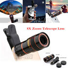 8X Zoom Optical Clip-on HD Telescope Phone Camera Lens For Cell Phones...