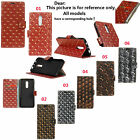 HD2 For Various Series Phone Emboss Metal Storm Leather Wallet Card Case Cover