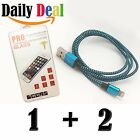 2X New Fast Durable Round Charger Cable for Apple iphone 5 6 7 +Screen Protector