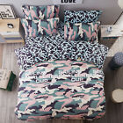 Home Single Queen King Bed Set Pillowcase Quilt/Duvet Cover oUSL Camouflage mcqj