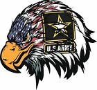 US Army American Flag Eagle Military Decal Sticker Laptop Vehicle Truck Window