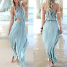 NEW Womens Summer Split Long Maxi Ladies Party Beach Casual Cocktail Party Dress