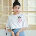 Women Girl Summer T-Shirt Korean Loose Blouse Tops Fashion Tees Fashion Pullover