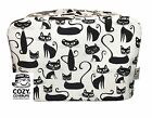CozyCoverUp® Cotton Food Mixer & Toaster Dust Cover, & Tea Cosy Black Cats