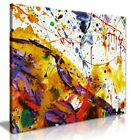 Abstract Modern Art Home Paint Splashes Canvas Wall Art Picture Print