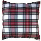 Tartan Cushion Cover Red White and Green Check - Christmas Colours