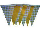 Yellow gingham daisy single sided bunting - wedding birthday party decoration