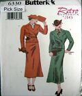 Butterick Sewing Pattern 6330 Ladies 6-10 Retro 30s Wrap Jacket Suit