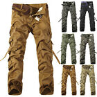 Military Men Cargo Pants Cotton Work Trousers Combat  Fishing Training Hiking