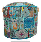 """18"""" Large Indian Pouffe Cover Patchwork Bohemian Cotton Urban Otoman Footstools"""