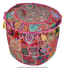 """22"""" Large Indian Pouffe Cover Patchwork Bohemian Cotton Urban Otoman Footstools"""