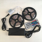 5/10M RGB 5050 LED Strip 600 SMD lights with 44 Key Remote Controller+12V Power <br/> US Stock, Excellent Quality, Fast Dispatch &amp; Delivery