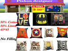New Fashion Pillow Case Pattern Pillowcase No Filling Sofa Cushion Cover H024
