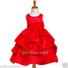 RED PICK UP PARTY BIRDAL FLOWER GIRL DRESS 6M 9M 12M 18M 2 3/4 5/6 7/8 9/10 12