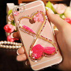 Fashion Dynamic Liquid Quicksand bling Diamond Back Case Cover For Cell Phones