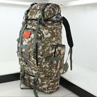80L Military Tactical Backpack Waterproof Camping Hiking Traveling Rucksack New