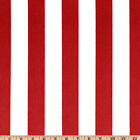 Red and White Stripe Fabric, Premier Prints Canopy Lipstick Drapery Fabric  Yard