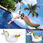 Giant Children Boat Raft Inflatable Unicorn Mount Float Swimming Pool Cup Holder