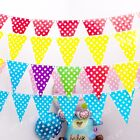 10ft/3M Polka Dots Flag Banner Spots Spotty Garland Birthday Party Decoration H