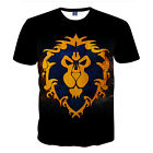 New Summer Black Lion Print T-Shirt Casual Short Sleeve Graphic Tee Tops For Men