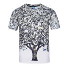New Summer 3D Tree Print T Shirt Casual Short Sleeve Graphic Tee For Men
