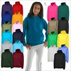 Children's Plain Hooded Sweatshirt Kids Hoodie Boys Girls Pullover Jumper TOP