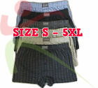 12 Pack Mens Classic Sports Cotton Jersey Boxer Shorts Trunk Underwear Brief Lot