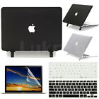 "2in1 Black Clear Matte Cut-out Case Protective Skin For MacBook Air 13""/13.3"""