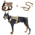 Tactical K9 Molle Dog Harness Police Adjustable Military Vest Canine W/Handle