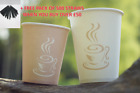 8oz/12oz COFFEE PAPER PICNIC CUPS Disposable Single Wall for Cold/Hot Drink LIDS