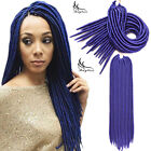 Synthetic Faux Locs 18inch Blue for Africa and American Women 24 Strands 100g