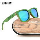 Men's Women's Bamboo Sunglasses Polarized Luxury Green Skateboard Wood Eyewear