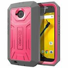 Case For Moto E 2nd Gen Poetic【Revolution】Dual Layer w/ Built-In Screen Case