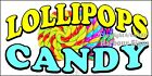 (CHOOSE YOUR SIZE)  Lollipops Candy DECAL Concession Food Truck Sticker