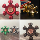 Six Hand Finger Spinner EDC Metal Bearing Fidget ADHD Stress Relief Spiral Toy