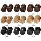 New 8/10/12mm Wide Wood Round Barbell Dumbbell Men's Women's Stud Earrings 2Pcs image