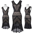 2017 New Mermaid Formal Wedding Evening Ball Gown Party Prom Bodycon Lace Dress