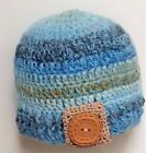 PREEMIE BABY BOYS CROCHET HAT photoprop knit small early micro shower blue carl