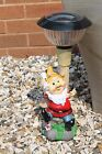 Resin Hand Painted Garden Gnomes with LED Solar Lights - Garden Ornaments