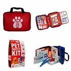 AKC Pet First Aid Kit Small 20-Piece or Large 50-Piece Red Travel Size Bag
