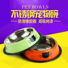 Stainless Steel Cat Food Bowl Round Cat Face Pet Feeder Cats Products for Pets