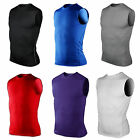 Mens Compression Armour Base Layer Tank Top Sleeveless Thermal Gym Sports Vest