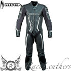 RICHA BARRACUDA BLACK WHITE LEATHER 1 PIECE MOTORCYCLE MOTORBIKE BIKE SUIT