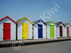 Preston Sands Beach Huts Torbay Devon Art Photo Canvas (UK)