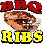 BBQ Ribs DECAL (Choose Your Size) Split Food Truck Concession Vinyl Sticker