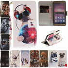 Painted Strap Leather Wallet Card Stand Flip Case Cover For Huawei P8/P9 Lite