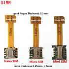 Dual SIM Card Adapter Converter Standby Cable For Samsung Android XIAOMI