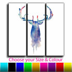 Abstract Stag Stripes Treble Canvas Wall Art Picture Print 14 Gallery Grade SKU