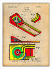 1925 Skee Ball Game Patent Print Colorized Art Drawing Poster 18X24
